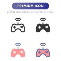Videogame controller icon isolated on white background. for your web site design, logo, app, UI. Vector graphics illustration and editable stroke. EPS 10.