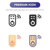icono de control remoto aislado sobre fondo blanco. para el diseño de su sitio web, logotipo, aplicación, interfaz de usuario. Ilustración de gráficos vectoriales y trazo editable. eps 10. vector