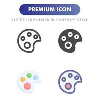 color palette icon isolated on white background. for your web site design, logo, app, UI. Vector graphics illustration and editable stroke. EPS 10.