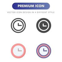 clock icon isolated on white background. for your web site design, logo, app, UI. Vector graphics illustration and editable stroke. EPS 10.
