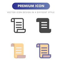 document icon isolated on white background. for your web site design, logo, app, UI. Vector graphics illustration and editable stroke. EPS 10.