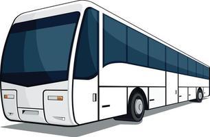 ilustración de dibujos animados de transporte comercial de pasajeros de viaje en autobús vector