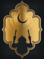 Frame Background Arabic Ornamental Ramadan Eid Mubarak Template vector