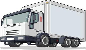 Cargo Box Truck Delivery Van Distribution Vehicle Cartoon vector