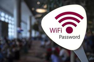 WiFi password sign in airport