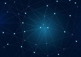 Abstract background with network communications design vector