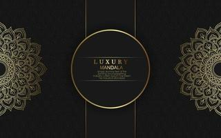 Luxury gold mandala ornate background for wedding invitation, book cover vector