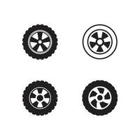 logo de icono de rueda de coche vector