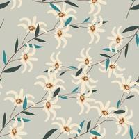 Seamless floral pattern with neutral colors for paper, cover, fabric, interior decor, wedding invitations and other prints. vector