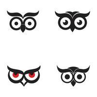 owl eyes logo and symbol vector