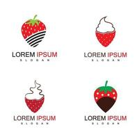 Strawberry logo and symbol vector
