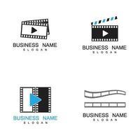 tira de película, logotipo, y, símbolo, vector