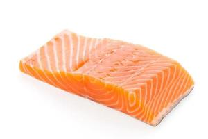 Raw salmon meat