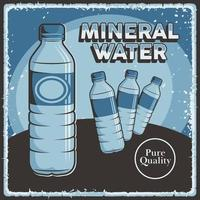 Mineral Water Signage Poster Retro Rustic Classic Vector