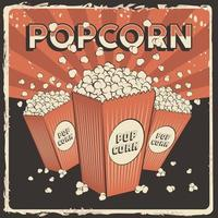 Popcorn Signage Poster Retro Rustic Vector