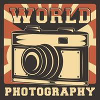 Camera Photography Rustic Classic Retro Vintage Signage Poster Vector