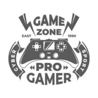 Game zone poster. Pro gaming. Cyber sport. Game Logo. Vector illustration.