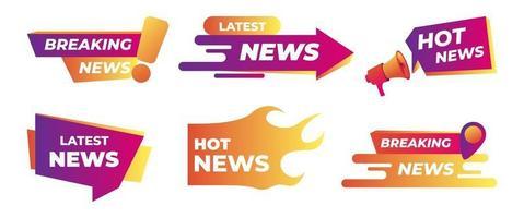 última hora, noticias deportivas. señal de interfaz. vector