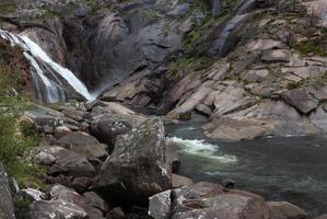 Waterfall and stream photo