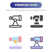 telescope icon isolated on white background. for your web site design, logo, app, UI. Vector graphics illustration and editable stroke. EPS 10.