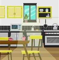 Modern design of kitchen vector