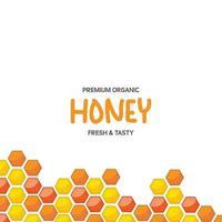 Hexagonal honeycomb pattern design template vector