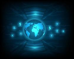 Currency exchange network speed blue abstract vector