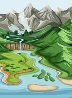 Nature geographic landscape vector
