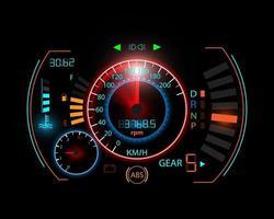 Fondo de movimiento del velocímetro. velocímetro del coche.