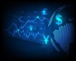Stock exchange, finance and global money transfers. vector