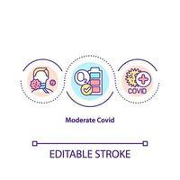 Moderate ovid concept icon vector