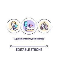 icono de concepto de terapia de oxígeno suplementario vector