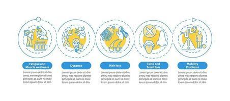 pacientes con plantilla de infografía de vector de enfermedad