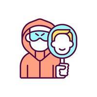 Robber identity change RGB color icon vector