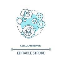 icono de concepto azul de reparación celular