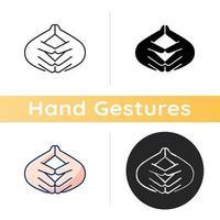 Steeple hand gesture icon vector