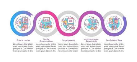 Plantilla de infografía de vector de ideas de diversión familiar