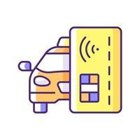 icono de color rgb de pago sin contacto vector
