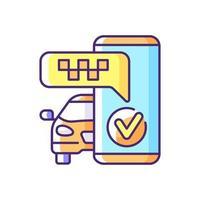 alertas de texto icono de color rgb vector