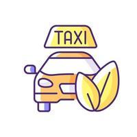 icono de color rgb de taxi ecológico vector