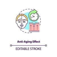 Anti aging effect concept icon vector
