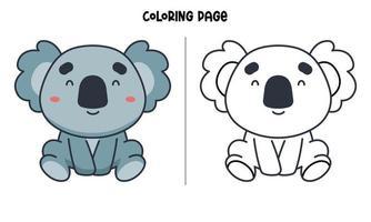 Smiling Koala Coloring Page vector