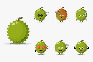 Set of cute tomato mascot vector