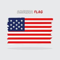 diseño de la bandera de américa vector