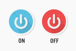 On and Off icon design vector