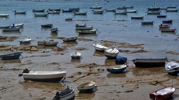 Boats in the bay of Cadiz photo