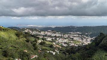 View of the valley of Teror in Gran Canaria photo