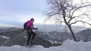 Trekking mit viel Schnee und Schneeschuhen video