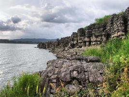Tourist attraction Sewu Hole Wadaslintang Reservoir