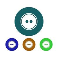 Set Of Dress Buttons On White Background vector